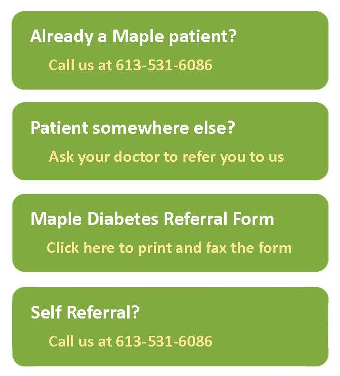 Maple Diabetes Enroll Icons Word Doc